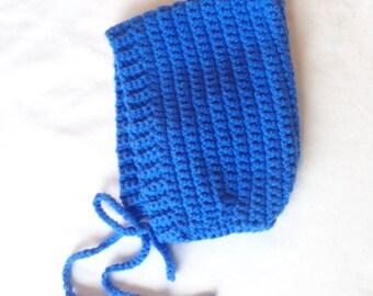 Baby Bonnet in Blue Jay