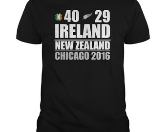 Ireland Vs NZ T-Shirt.ireland beat new zealand 111 years,chicago rugby game,nz rugby t-shirt,ireland rugby t-shirt,rugby fans t-shirts,rugby