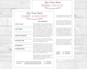 General Contract U0026 Model Release Form For Photographers| .PSD Template