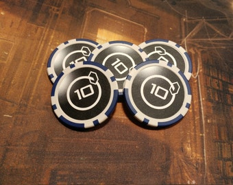 10 Credit Poker Chips (5 Quantity)