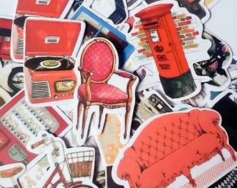 31pcs  Life Style- Japanese scrapbooking stickers,scrapbooking,decorative stickers, japanese stickers,decor stickers,kawaii stickers