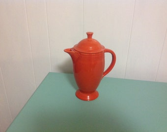 Vintage Fiesta Ware Coffee Pot Original Red Glaze