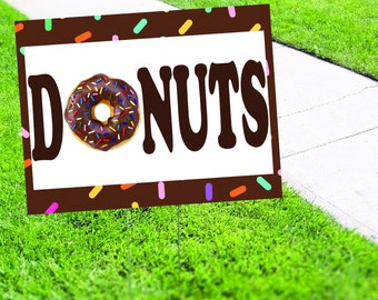Donut Shop Yard Sign