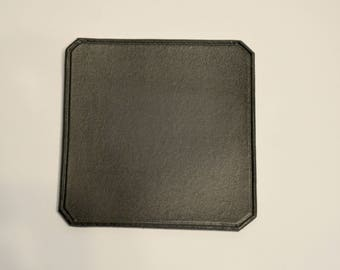 Set of six - Plain black coasters