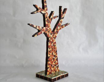 Mosaic jewelry tree