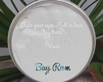 8 oz. Bay Rum Whipped Shea Butter