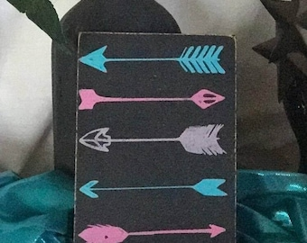 Arrows - Hand-Painted Wood Sign