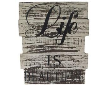 Scritte in legno etsy it - Scritte in legno shabby ...
