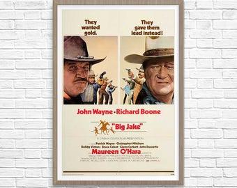 John Wayne, John Wane Poster, John Wayne Movie Poster, Big Jake Poster, Movie Print, Movie Poster