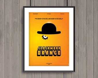 A CLOCKWORK ORANGE, minimalist movie poster