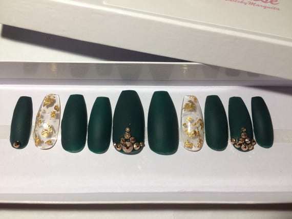 Legendary matte nailsgold leafcoffin nails custom designer 3900 prinsesfo Choice Image