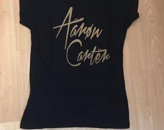 Aaron Carter Logo Tee