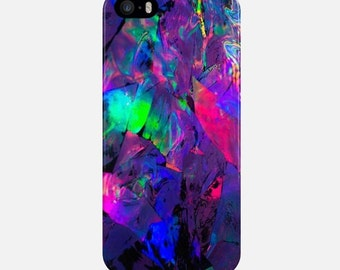 Crystalls Phone Case, Purple iPhone Case, iPhone 6 Case, iPhone 7 Case, iPhone 6 Plus Case, Art Style Case, Phone Cover, iPhone 5 Phone Case