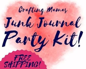 Junk Journal Scrap Book Sketch Book PARTY Kit