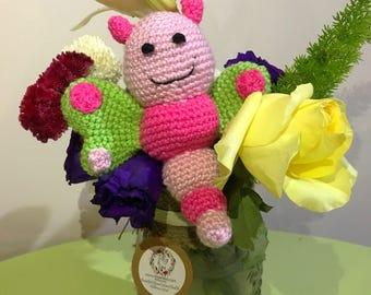 Handmade Crochet Baby Butterfly Rattle
