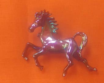 Vintage Iridescent Horse Pin