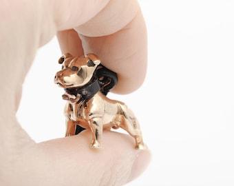 Vakkancs Staffbull bronze keychain (3D)
