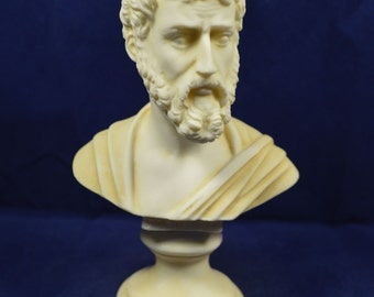 Sophocles sculpture bust ancient Greek philosopher aged statue