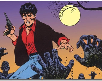 On canvas canvas Dylan Dog
