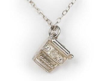 Vintage Type Writer Charm - Silver