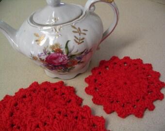 4 Piece Crochet Coaster Doily Set Tea Coasters Coffee Mug Coaster Home Decor Coaster Collection 6