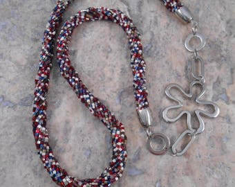 Multi-strand beaded wound necklace