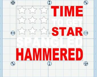 Time to get star spangled hammered svg