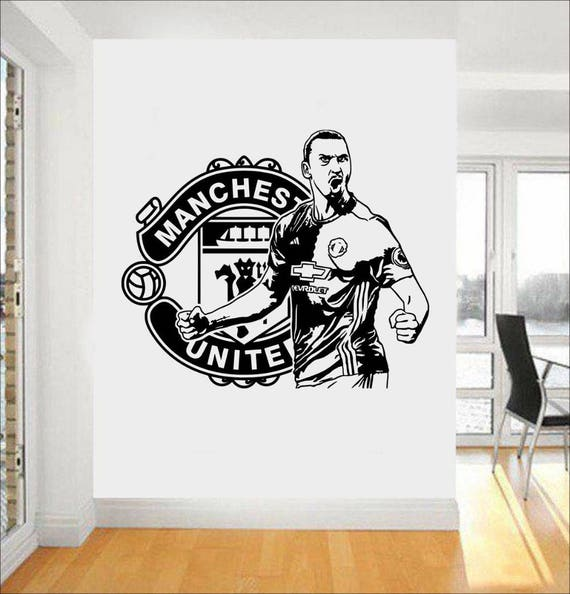 Zlatan Ibrahimovic Wall Decal - Manchester United Wall Sticker -Soccer Decal - Kids Room Wall sticker - Home Decor - Gifts for Him