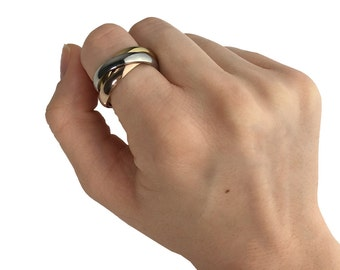 Rolling Ring | Triple Band Ring | Tri Color Ring