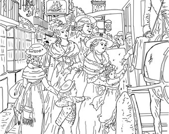 BoardingTheCarraige....A Coloring Page