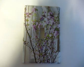 Switchplate decoupage, Cherry Blossoms  - will provide a great addition to your home style.