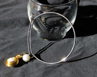 Nest Pearl Charm Bracelet