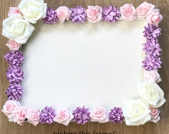 Floral Bloom/Vintage Inspired Frame/Home Decor/Wedding/Event