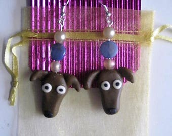 Polymer,GREYHOUND, EARRINGS, Jewellery