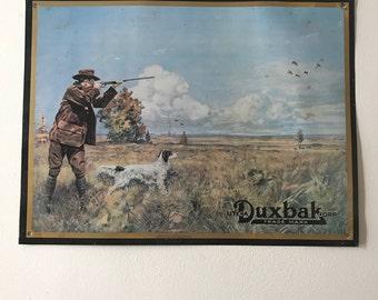 Vintage Duxbak metal tin sign