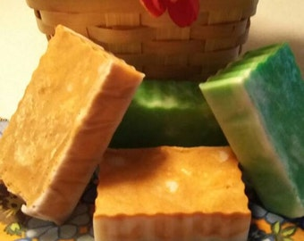 Scented Shea Butter and Olive Oil soap bars