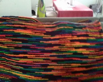 Custom Crochet Blanket Small 20 inches long by 40 inches wide
