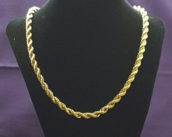Avon Vintage Gold Tone Rope Necklace