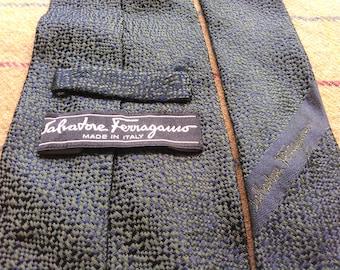 Vintage Salvatore Ferragamo Silk Necktie Salvatore Ferragamo Silk Tie Made in Italy