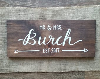 Personalized Wedding - wood sign