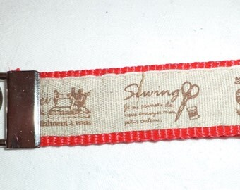 Sewing red keychain
