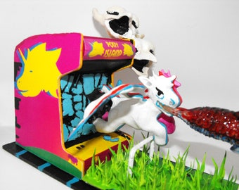 3D Print - Pony Island Diorama - Break Out! Hand Painted