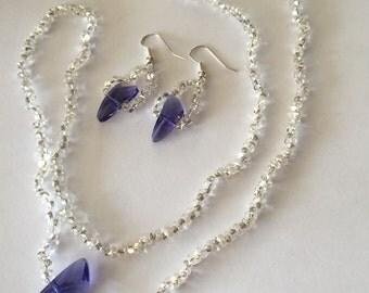 Purple wing with peanut beads
