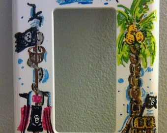 Pirate Kids Room Rocker Switchplate Handpainted