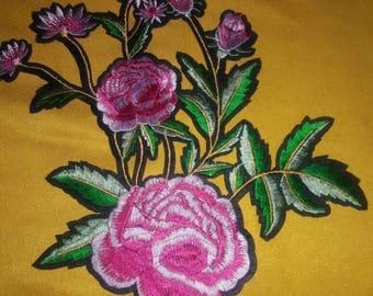 Big ROSE Pink Aplique Patch.