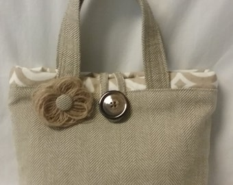 tote bag, purse, market bag, school bag, brown/tan burlap tote, handbag