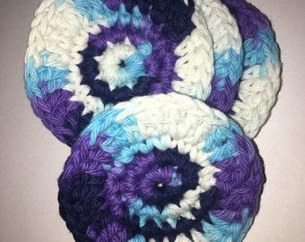 Crochet Face Scrubbys ~ 4 Pack