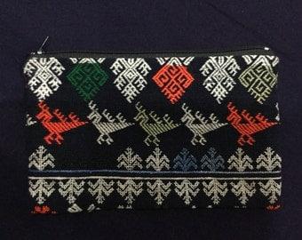 Vintage Handmade Tribal Man cotton wallet in the north of Vietnam