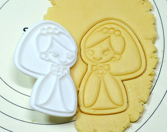 Cute Bride Cookie Cutter and Stamp