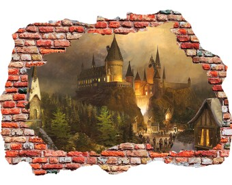 Hogwarts Castle, Harry Potter wall sticker, decal, self-adhesive vinyl